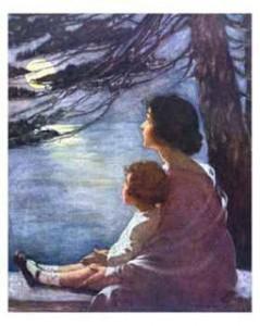 Madre y niña de Jessie Willcox Smith
